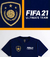 Kit 2 Camisetas FIFA 21 Ultimate Team e Volta Football na cor azul marinho - Camiseta Delivery