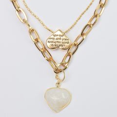 Kit colar heart love ouro - comprar online