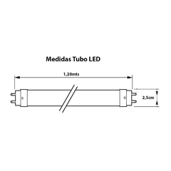 Tubo led 120cm 18w frio en internet