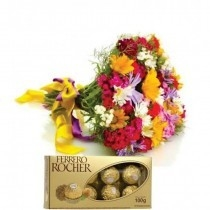 Bouquet de Flores do Campo e Chocolates- Dama