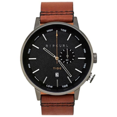 Relógio Rip Curl Detroit Tide Black Analog Leather