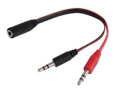 ADAPTADOR AUDIO 3,5MM(H) A MIC(M) + AURI(M) NM-C50 NETMAK