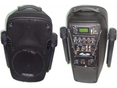 "Bafle potenciado de 15"" con 2 mic VHF, MP3 POWERED 890"