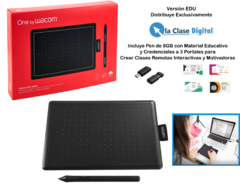 Tableta Digitalizadora One by Wacom línea EDU , ideal para el Docente, potenciada con Portales , Soft y Capacitación
