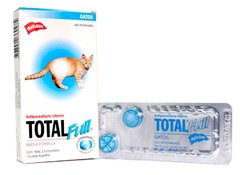 Total Full gatos - Antiparasitario Interno Palatable en comprimidos y suspension via oral