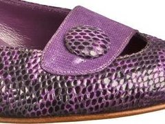 Zapatos Kelly Reptil Violeta - Frou Frou Shoes