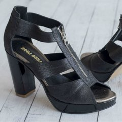 Marion Glitter Black Sandals en internet