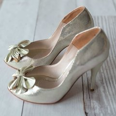 Zapatos Flor Platino - Frou Frou Shoes