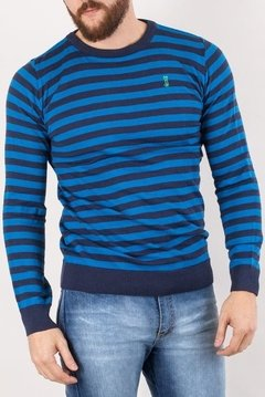 SWEATER GEORGE AZUL - SLIM