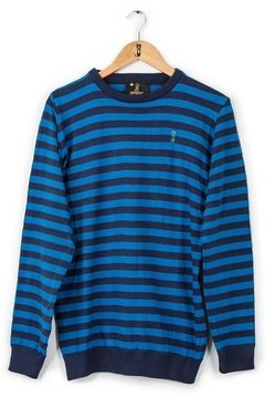 SWEATER GEORGE AZUL - SLIM - comprar online