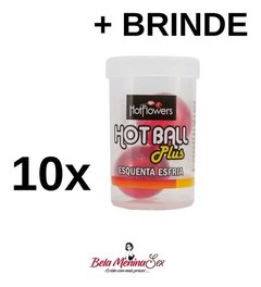 10x Hot Ball Esquenta Esfria Excitante Penetra Explosiva