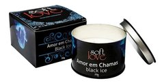 Vela Black Ice Amor Em Chamas Hot Beijável Soft Love - 7875