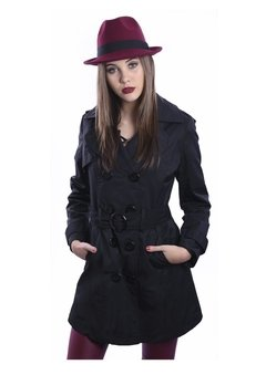 Piloto Impermeable Trench Negro