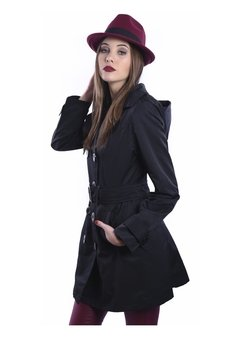 Piloto Impermeable Trench Negro - comprar online