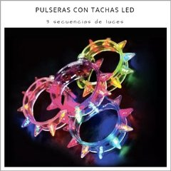 Pulsera tachas Led - Pack x 5