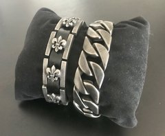 Pulsera SUPER ANCHA CHATA SATINADA en internet