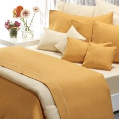 Sabana Danubio Colors 1 Plaza 200 Hilos Color Golden Apricot