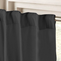 Cortina Ambiente Blackout Textil Kavanagh Color Negro