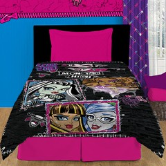 Frazada Disney Piñata Flannel Fleece 1 Plaza Diseño Monster High