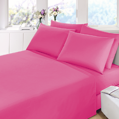 Sabana Prata Lisa Queen Size Color Fucsia