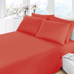 Sabana Prata Lisa Queen Size Color Rojo