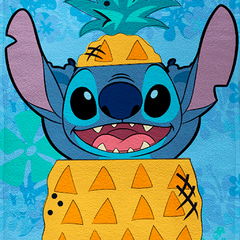 Toallon Playero Disney Piñata Diseño Stitch 2