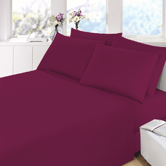 Sabana Prata Lisa 2 Plazas Color Violeta