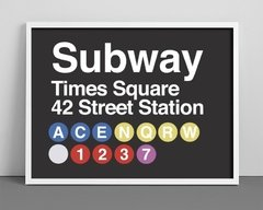 Cuadro Subway Sign New York