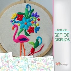 PROMO Tutorial-ON LINE-bordado Mexicano + Kit de 3 bocetos - Maria Paula Caradonti