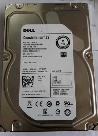 Hd Dell 2tb Sata 7.2k 3,5 St2000nm0011 9yz168-036 Th- 0835r9
