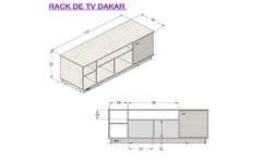 Rack de Tv Dakar 135 × 52 × 45 cm en internet