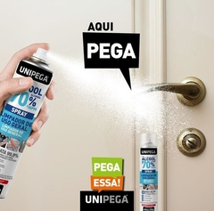 Kit 06 un Álcool 70% Spray Higienizador Antisséptico 400ml na internet