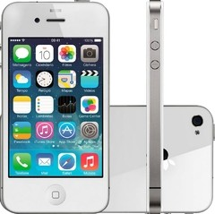 iPhone 4S Apple 8GB com Câmera 8MP, Touch Screen, 3G, GPS, MP3, Bluetooth e Wi-Fi - Branco