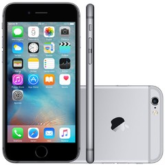 "IPHONE 6S APPLE COM 16GB E TELA 4,7"" HD COM 3D TOUCH, IOS 9, SENSOR TOUCH ID, CÂMERA ISIGHT 12MP, WI-FI, 4G, GPS, BLUETOOTH CINZA ESPACIAL"
