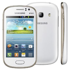 Celuar Samsung Galaxy Fame Duos GT-S6812 Branco, processador de 1Ghz Single-Core,  Bluetooth Versão 4.0, Android 4.1.2 Jelly Bean, Quad-Band 850/900/1800/1900