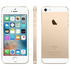 "IPHONE SE APPLE COM 16GB, TELA 4"", IOS 9, SENSOR DE IMPRESSÃO DIGITAL, CÂMERA ISIGHT 12MP, WI-FI, 3G/4G, GPS, MP3, BLUETOOTH DOURADO"
