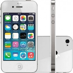 "IPHONE 4 BRANCO 16GB APPLE - IOS 6 - 3G - WI-FI - TELA 3.5"" - CÂMERA DE 5MP"