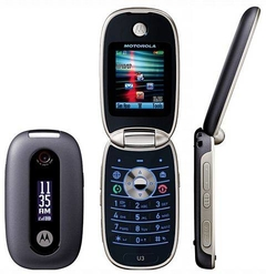 celular abrir e fechar motorola u3 Mp3 Player, Push to talk, mini USB, gsm