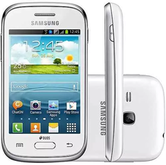 Smartphone Samsung Galaxy Young Plus TV GT-S6293T Branco com Dual Chip, Android 4.1, TV Digital, 3G, Rádio FM, Wi-Fi e Câmera de 3MP