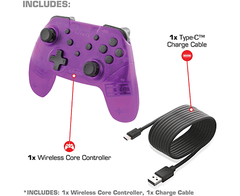 Wireless Core Controller NYKO - Bluetooth Pro Controller with Turbo and Android/PC Compatibility for Nintendo Switch - Purple en internet
