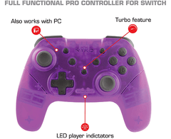 Wireless Core Controller NYKO - Bluetooth Pro Controller with Turbo and Android/PC Compatibility for Nintendo Switch - Purple - comprar online