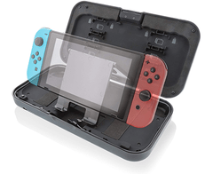 Nyko Power Shell Case - Hard protective case with built-in 5,000 mAh rechargeable battery, integrated play and charge cord, kickstand and game/SD Card storage - tienda online