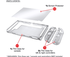 Nyko Thin Case - Dockable Protective Case with Tempered Glass Screen Protector for Nintendo Switch en internet