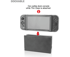 Imagen de Nyko Thin Case - Dockable Protective Case with Tempered Glass Screen Protector for Nintendo Switch