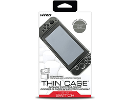 Nyko Thin Case - Dockable Protective Case with Tempered Glass Screen Protector for Nintendo Switch
