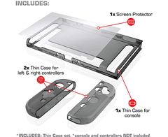 Nyko Thin Case - Dockable Protective Case with Tempered Glass Screen Protector for Nintendo Switch - tienda online
