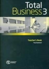 TOTAL BUSINESS 3 - UPPER-INTERMEDIATE - TEACHER'S BOOK