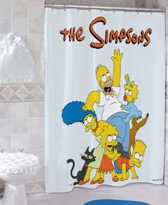 Cortina de baño The Simpsons - comprar online