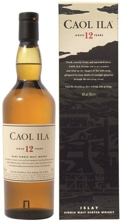 Whisky Single Malt Caol Ila 12 Años 1000ml. En Estuche.