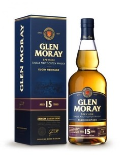 Whisky Single Malt Glen Moray 15 Años En Estuche.